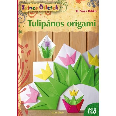 Tulipános origami - Színes Ötletek 128.